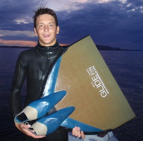 Antonio Koderman apnea H2O team